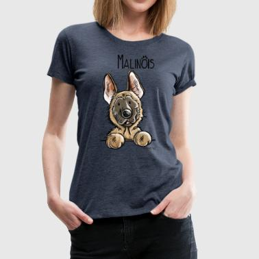 Cute Malinous Dog Cartoon - Gift - Women's Premium T-Shirt
