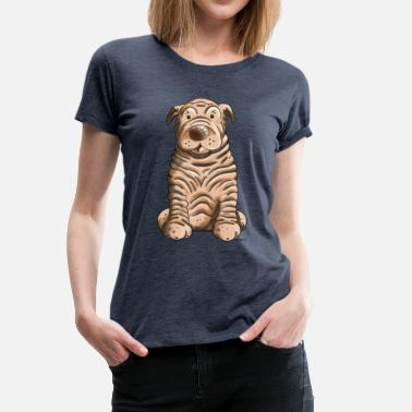 Cute Animal Cute Shar Pei - Dog - Dogs - Cartoon - Gift - Women's Premium T-Shirt