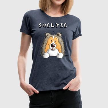 Little Sheltie Dog - Dogs - Cartoon - Gift - Women's Premium T-Shirt