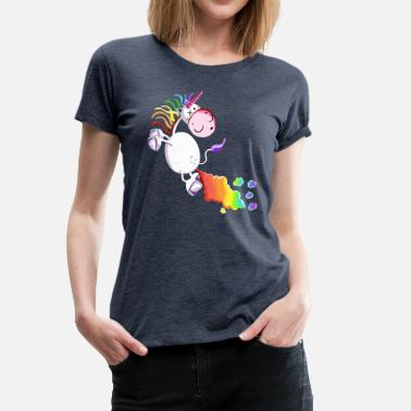 Farting Unicorn - Unicorns - Gift - Cartoon - Women's Premium T-Shirt