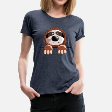 Sloth Cartoon Cute Sloth - Sloths - Animal - Gift - Cartoon - Women's Premium T-Shirt