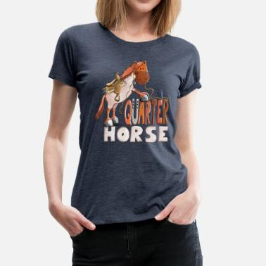 Western Riding Red Roan Quarter Horse - Gift - Western - Riding - Women's Premium T-Shirt