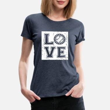 Pitcher Baseball love passion - gift - Women's Premium T-Shirt