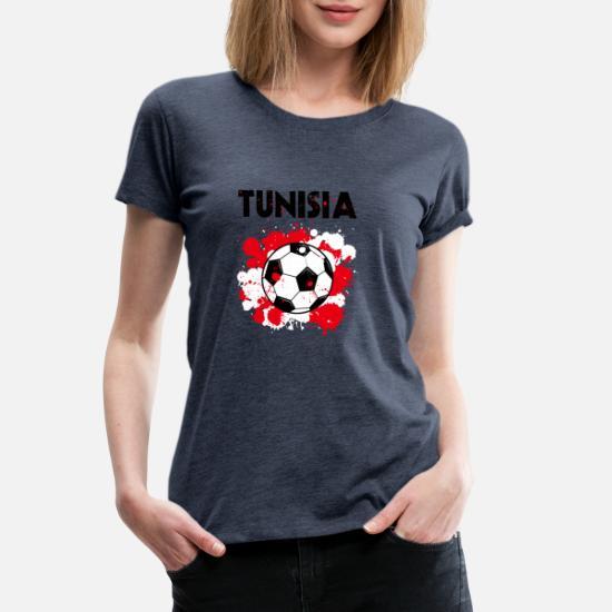 902e7e7b750 Women's Premium T-ShirtTunisia Soccer Shirt Fan Football Gift Funny Cool