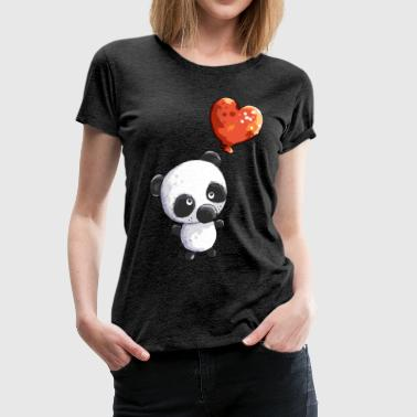 Cute Panda Bear With Balloon - Baby - Gift - Kids - Women's Premium T-Shirt