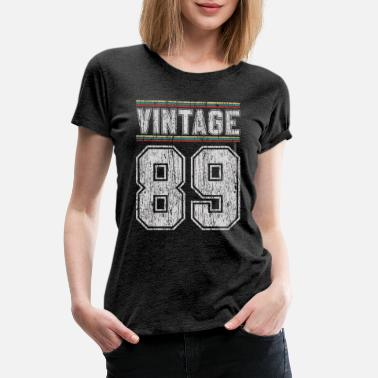 Jersey Number 30th Birthday - Vintage 1989 Funny Gift - Women's Premium T-Shirt