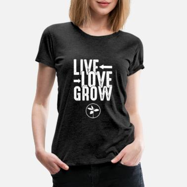 Exploit Live love grow develope boom accelerate seed gift - Women's Premium T-Shirt