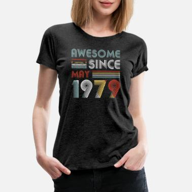 1979 Vintage Awesome Since May 1979 40th Birthday - Women's Premium T-Shirt