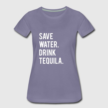 Lime Funny Save Water Drink Tequila Shirt - Women's Premium T-Shirt