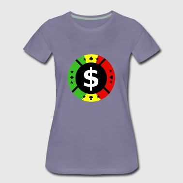 poker chip - Women's Premium T-Shirt