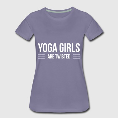 Yoga Girls are twisted - Women's Premium T-Shirt