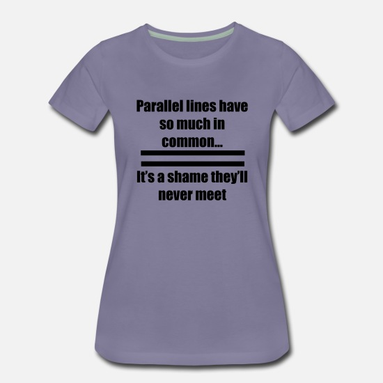 Parallel T-Shirts - Parallel Lines - Women's Premium T-Shirt washed violet