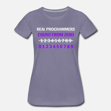 Avatar Real Programmers Count From Zero - Women's Premium T-Shirt