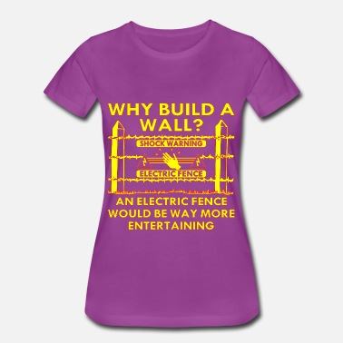 Build An Electric Fence Would Be Way More Entertaining - Women's Premium T-Shirt