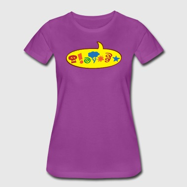 Cursing bad words speech balloon - Women's Premium T-Shirt