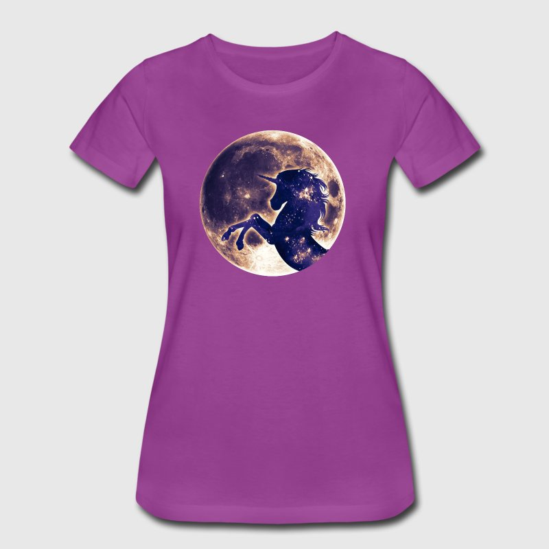Unicorn full moon, galaxy, space, cosmic, horse - Women's Premium T-Shirt