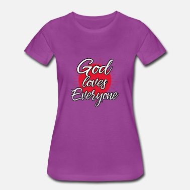 God Loves Everyone Christian Graduation Gift - Women's Premium T-Shirt