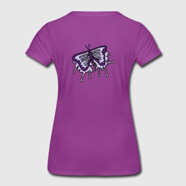 Vibrant Butterfly Purple  - Women's Premium T-Shirt