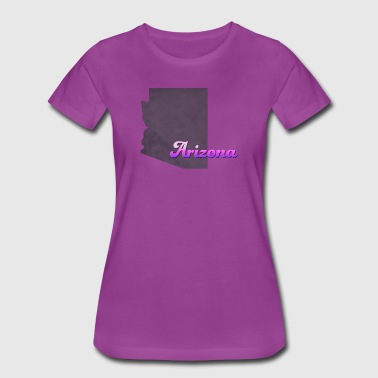 Arizona Map USA violet - Women's Premium T-Shirt