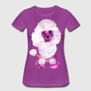 Watercolor Poodle Puppy Digital Art - Women's Premium T-Shirt