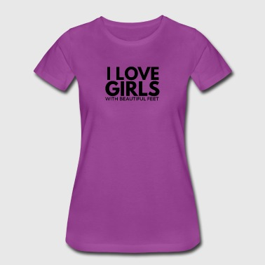 Foot Fetish i love girls with beautiful feet foot fetish - Women's Premium T-Shirt