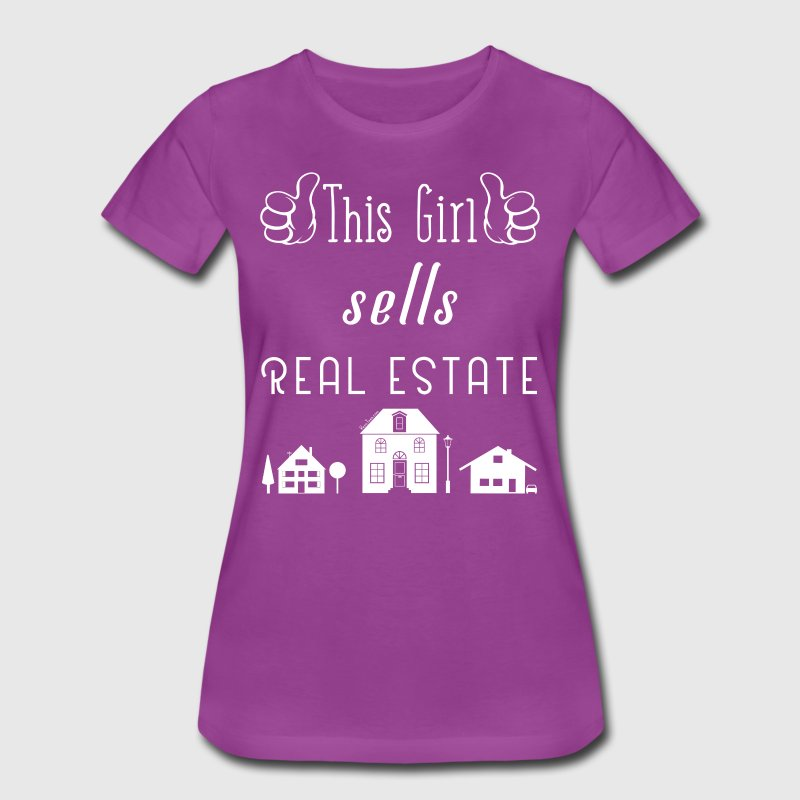 This Girl Sells Real Estate for Property Managers - Women's Premium T-Shirt