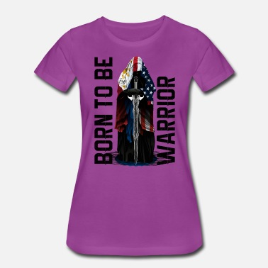 Fil Am Born to be warrior for Light backround - Women's Premium T-Shirt