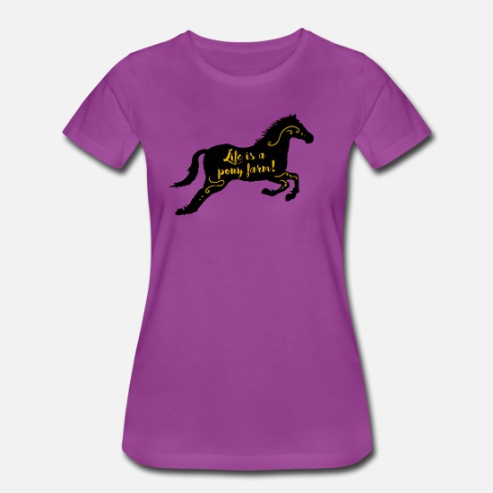 Morgan T-Shirts - life is a pony farm Horse Gift Idea - Women's Premium T-Shirt light purple