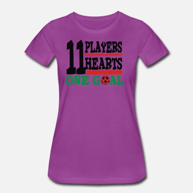 One Goal 11 players 11 hearts One Goal - Women's Premium T-Shirt