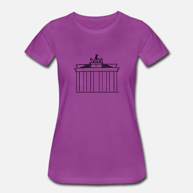 Bundestag brandenburger tor berlin landmark black berliner - Women's Premium T-Shirt