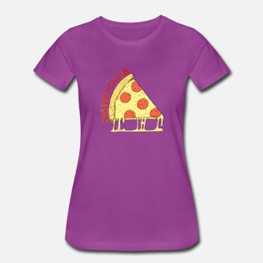 Peace Love Pizza Cheese - Peace - Pizza - Slice - Women's Premium T-Shirt