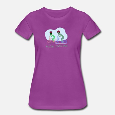 Specific Age Alien loves BMX - Women's Premium T-Shirt