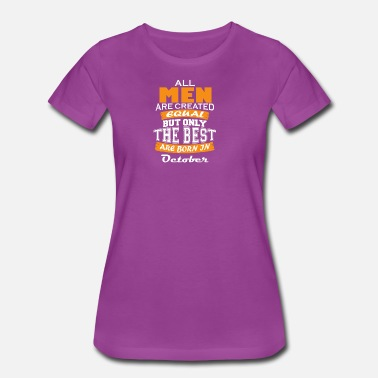 October Couples The Best are Born in October - Women's Premium T-Shirt