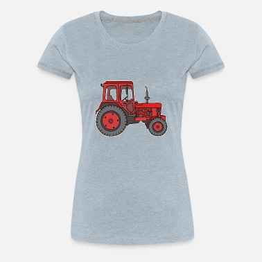 Agricultural Engineering Red tractor - Women's Premium T-Shirt