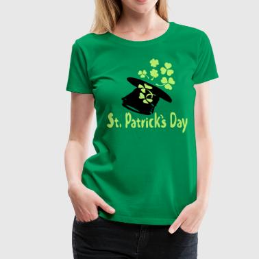 St.Patrick's day irish hat shamrock -10 - Women's Premium T-Shirt