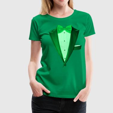 Green St.Paddy's DayTuxedo - Women's Premium T-Shirt