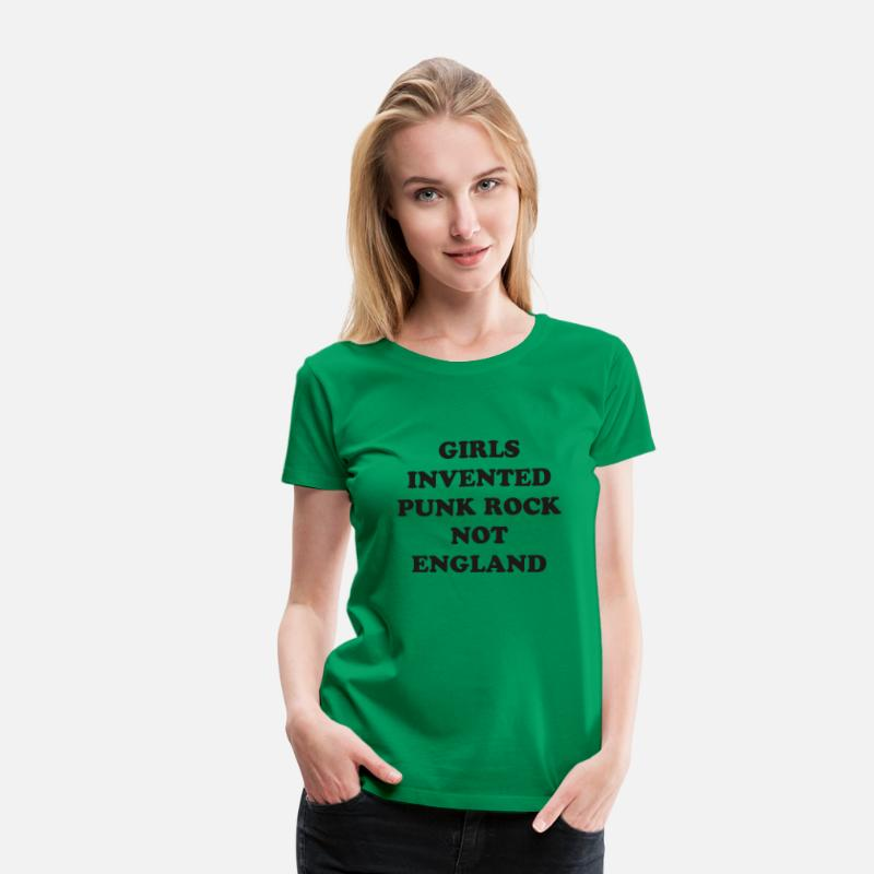 Music T-Shirts - Girls Invented Punk Rock not England  - Women's Premium T-Shirt kelly green