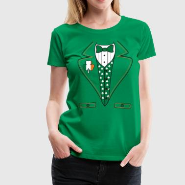 Leprechaun Tuxedo Irish Leprechaun Costume T-Shirt - Women's Premium T-Shirt
