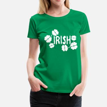 Plus Size Irish Irish txt  shamrock  st.patrick's day-3 - Women's Premium T-Shirt