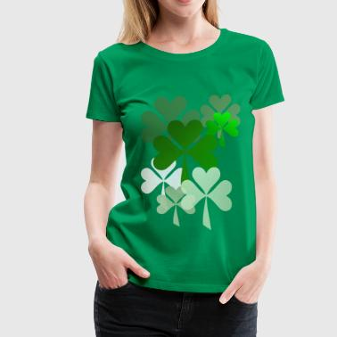 Faded Shamrocks - Women's Premium T-Shirt
