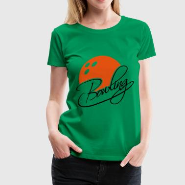 Bowling Text Logo Design - Women's Premium T-Shirt