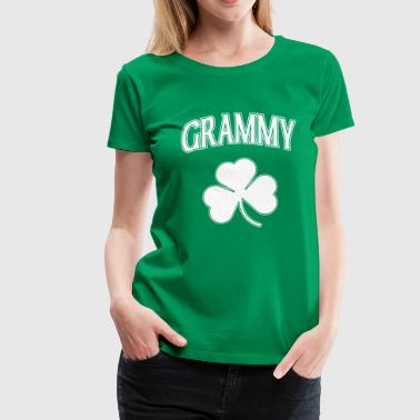 Irish Grammy Shamrock - Women's Premium T-Shirt