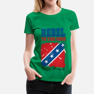 Threadz Dixie Threadz - Rebel to the core! - Women's Premium T-Shirt