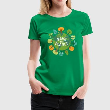 Save The Planet Ecology T-shirt - Women's Premium T-Shirt