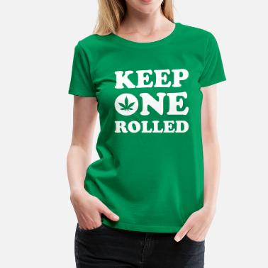 Smike Keep One Rolled - Women's Premium T-Shirt