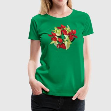 Circle of Poinsettias - Women's Premium T-Shirt