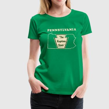 Pennsylvannia, the Keystone State Vintage - Women's Premium T-Shirt