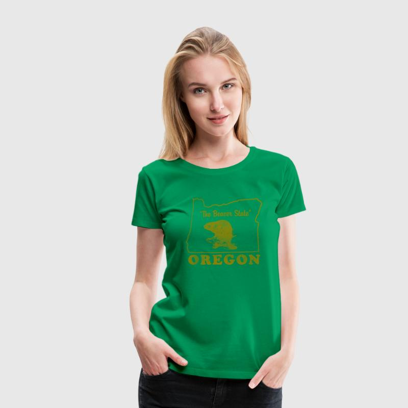 Oregon The Beaver State Vintage - Women's Premium T-Shirt