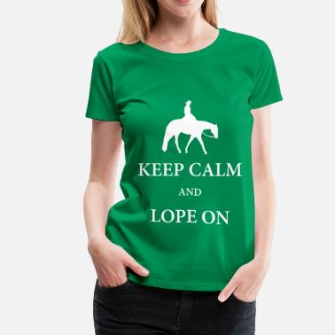 Aqha Western Pleasure Horse Silhouette with Quote - Women's Premium T-Shirt