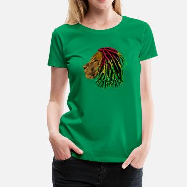 Dreadlock Lion lion reggae - Women's Premium T-Shirt